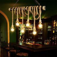 E27 Vintage Elektrokabel Hanfseil Hängend Lampenfassung Decke Edison Lampe Licht