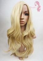 Ladies Wavy Straight Long Full Wig Brown Black Blonde Auburn Realistic Look