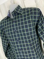Thomas Dean Long Sleeve Flip Cuff Button Up Shirt Mens Size L Large [A-1294]