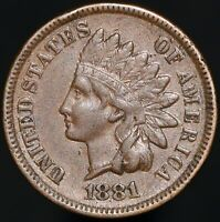 1881 | U.S.A. Indian Head One Cent | Bronze | Coins | KM Coins