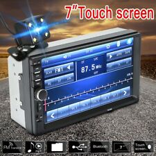 "7 "" Double 2 DIN Car FM Stereo Radio USB MP5 MP3 Player Touch Screen Bluetooth P"