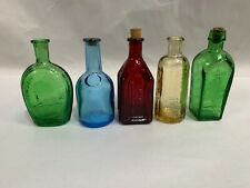 """Lot Of """"5"""" Small Vintage Franklin Straubhuller's & Other Bitters Bottle (D5)"""