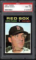 1971 TOPPS #31 EDDIE KASKO BOSTON RED SOX PSA 8 NM/MT