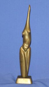 Vintage Nude Female Body Modernist Bronze Art Work Statuette