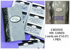 168 Wedding Guest Wish / Wishes / Wishing Cards & 2 Damask Keepsake Books & Pen