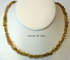 """NATURAL CITRINE CRYSTAL CHIP NECKLACE BEAD 18"""""""