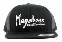 MEGABASS  BRUSH TRUCKER HAT SNAPBACK LOGO FISHING CAP MENS OSFM