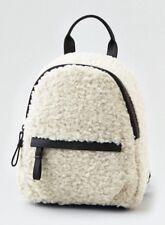 AEO Faux Fur Sherpa Ivory Mini Backpack Bag NWT American Eagle Outfitters