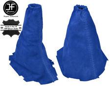 BLUE REAL SUEDE GEAR & HANDBRAKE GAITER FITS FORD FOCUS II MK2 2008-20011