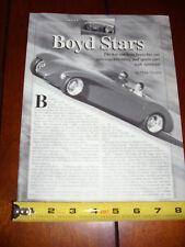 BOYD CODDINGTON CHIP FOOSE SPORTSTAR LEXUS SPORTS CAR - ORIGINAL 1996 ARTICLE