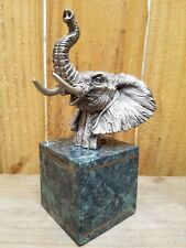 Master Edition Fort 1993 Fine Pewter Collectable Elephant Head