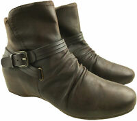 Great Price! Ladies Black Synthetic Ankle Boots Zip /& Buckle Detail F50402