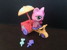 LPS Littlest Pet Shop Pets on the Go Pink Cat Ice Cream Cart Set # 1846 Complete