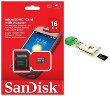 SanDisk 16GB MicroSD Micro SDHC TF Class 4 Memory Card for GoPro Hero4 Tab 4 4s