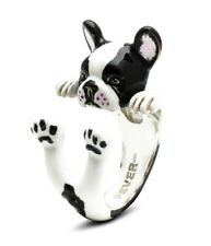 Anello Hug Ring Dog Fever Argento 925 Bulldog Francese Smaltato