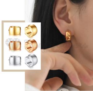 Stainlesss Steel Huggie Thick Stud Small hoop earrings Gold Chunky Hoop Earrings