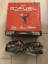 Milwaukee M18 FUEL Li 18-Volt Brushless 1/2 High Torque Impact Wrench+(2) 5.0Ah