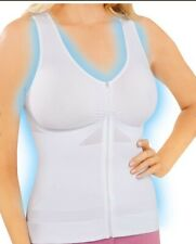 Dream Products ZIP UP UNPADDED COOLING SHAPEWEAR BRA CAMI S,M,L,XL,2XL WHITE