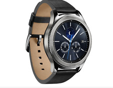 Samsung Gear S3 Classic Smartwatch SM-R770 with Black Band - Silver .