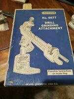Vintage Craftsman NO. 6677 Drill Grinding Attachment Sears Roebuck & Co Original