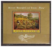 39054) Rumania 1971 MNH Belgica 72 S/S Bruegel