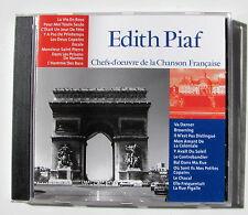 EDITH PIAF . Chefs-D'Oeuvre De La Chanson Française  . CD CF001