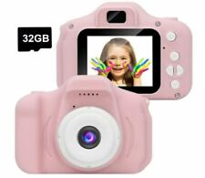 Kids Digital Camera Video IPS Screen 1080P with 32GB TF Card - Pink
