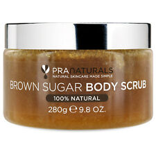 PraNaturals Brown Sugar Body Scrub 280g Naturally Exfoliating Removes Dead Skin