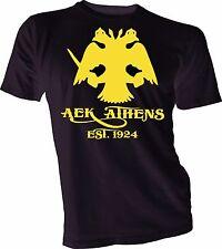 AEK Athens F.C. Greece Football Soccer T Shirt Unisex Men s Handmade  football 892df878636