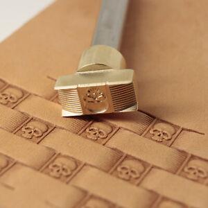 Leather stamp tool for leather craft DIY brass stamp #281 skull basket stamp