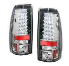 CHEVY/GMC 2003-2006 SILVERADO SIERRA REAR LED TAIL LIGHT LAMP CHROME SET NEW L+R