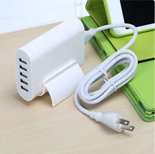 EU/US/UK Plug Universal 4A 5 USB Ports Travel Home Wall Charger Power Adapter