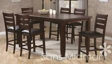 "NEW! Barlow Dining Room 9 piece Furniture Set 36""H Table w/leaf & 8 Chairs"