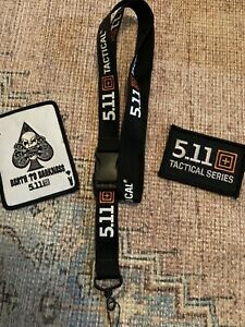 5.11 TACTICAL *** DEATH TO DARKNESS *** OLDER MORALE PATCH Plus Patch & Lanyard