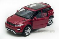 Range Rover Evoque in dark red, Welly scale 1:34-39, model toy car gift