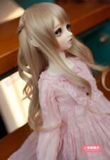 BJD Doll Hair Wig 7-8 inch 18-20cm Brown 1/4 SD DZ DOD LUTS Perma-long plaits