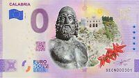 BILLET 0  EURO CALABRIA  COULEUR  ITALIE  2021 NUMERO DIVERS
