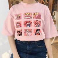 Cute T-Shirt for Girl Harajuku Lovely Sailor Moon Kawaii Japanese Tee Shirt