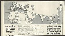 INDOCHINE PUBLICITE AIR FRANCE CONSTELLATION AVIATION 1953
