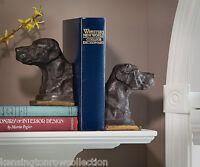 BOOKENDS - LABRADOR RETRIEVER BOOKENDS - BRONZE FINISH LAB BOOKENDS - BOOK ENDS