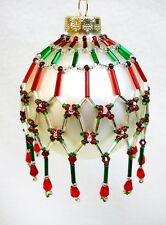 "PATTERN ONLY Beaded Christmas Ornament Cover Holiday Original ""Tapestry"""