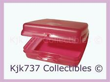 1 BRAND NEW TUPPERWARE SQUARE HINGED SANDWICH KEEPER PINK ~KIDS LUNCH BOX~