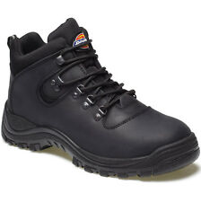 MENS DICKIES FURY STEEL TOE CAP SAFETY BOOTS SIZE UK 9 EU 43 FA23380A BLACK