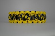 550 Paracord Survival Bracelet Cobra Yellow/Bumblebee Camping Military Tactical