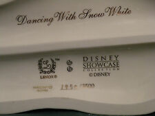 """Lenox Disney """"DANCING With SNOW WHITE"""" Limited Edition # 1450 of 3500"""