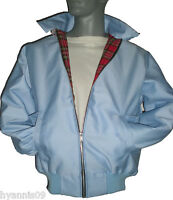 Harrington Jacket Classic 1970's Bomber Coat  Sky Blue colours