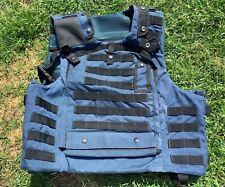 BLUE CIVILIAN MK3 OSPREY BODY ARMOUR COVER VEST - Size: 190/120cm British Issue