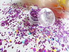 Nail Art Pink-y Holographic *SasSy* Myler Flakes Cut Shatter Pot Spangle Glitter