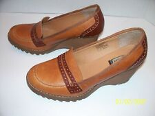 Sketchers Brown Leather Wedge Loafer US 9