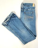 MAURICES Womens MOLLI FLARE Low Rise Flare Jeans Medium Wash Size 3/4 Regular